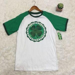 NWT Lucky Tee Shirt FOUR LEAF CLOVER